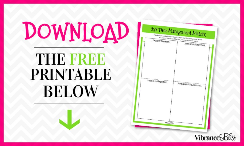 Overwhelmed? Not sure what needs to get done first? Use a TM Matrix will help you evaluate your tasks based on priorities so you can choose the best thing.