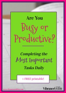 When you simply don't have time for everything on your list, decide which tasks hold the most value, and focus on just a few each day.