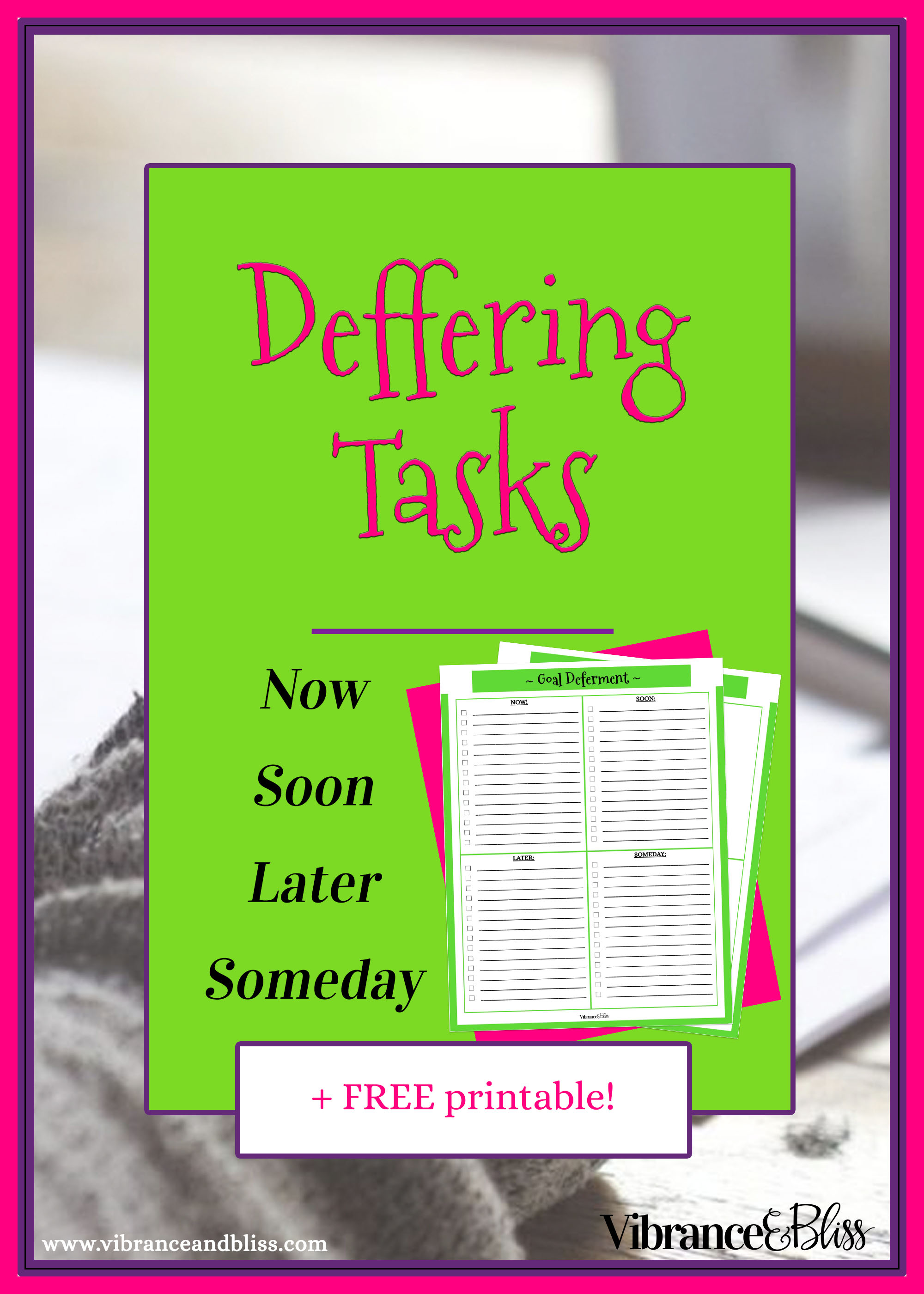 """Overwhelmed? Too many tasks? Sometimes it's prudent to redistribute your schedule to different days so you can focus on what needs to get done """"right now."""""""